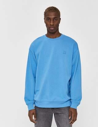 Acne Studios Forba Face Crewneck Sweatshirt in Aqua Blue