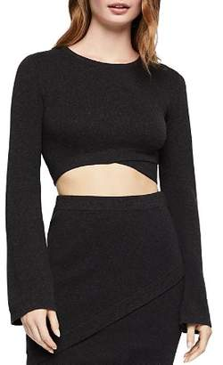 BCBGeneration Bell-Sleeve Cropped Top