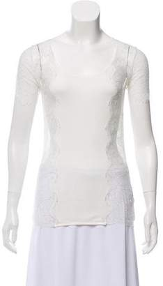 Dolce & Gabbana Lace Scoop Neck Top