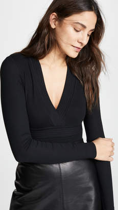 ATM Anthony Thomas Melillo Trapunto V Neck Bodysuit