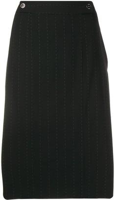 Salvatore Ferragamo Pre-Owned 2000's pinstripe straight skirt