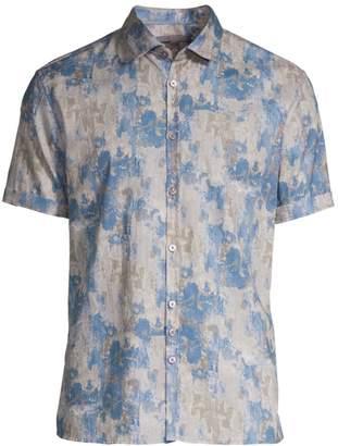 a48f67f2a John Varvatos Slim-Fit Short Sleeve Linen Button-Down Shirt