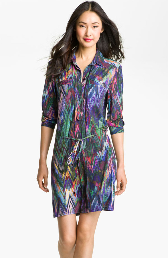Suzi Chin for Maggy Boutique Print Jersey Shirtdress