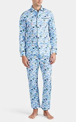 Maison Marcy Men's Magritte Cotton Poplin Slim Pajama Set - Lt. Blue