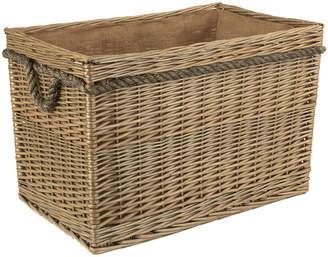 Rectangular Rope Handled Log Basket