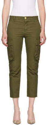 DSQUARED2 Green Cotton Ripstop Combat Trousers