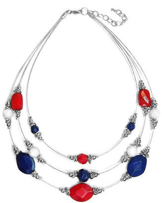Carol Dauplaise STUDIO BY CAROL Studio by Multi-Row Illusion Necklace