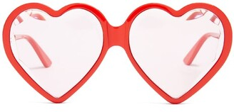 Gucci Heart Shaped Frame Sunglasses - Womens - Red Multi
