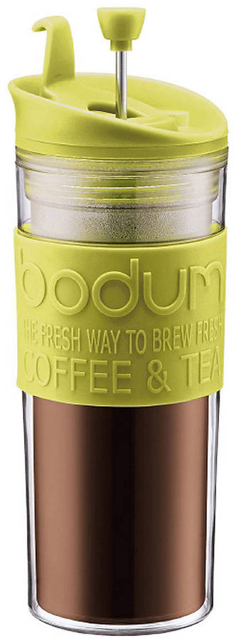Bodum Double-Wall 15-Ounce Thermal Plastic Travel Coffee and Tea Press with Tumbler Lid