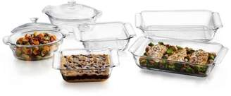 Libbey Baker's Premium 6-piece Glass Serving Dish Set with 2 Covers