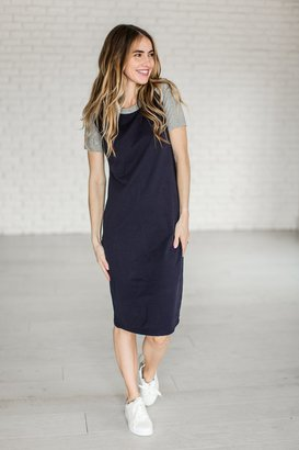 Baseball Dress - Navy $39.99 thestylecure.com