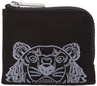 Kenzo Black Tiger Zip Around Wallet