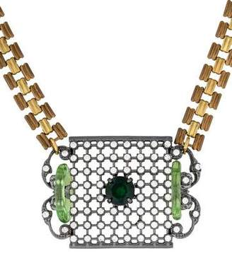 Lulu Frost Openwork Crystal Pendant Necklace $145 thestylecure.com