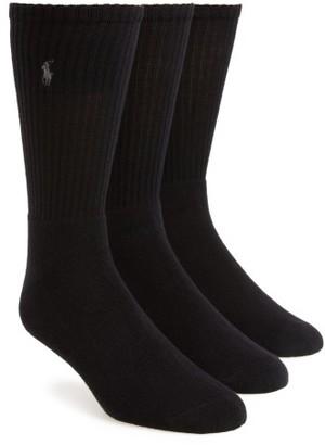 Men's Polo Ralph Lauren 3-Pack Crew Socks $23 thestylecure.com