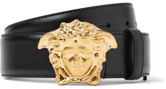 Versace 4cm Black Leather Belt