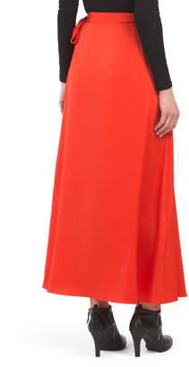 BCBGMAXAZRIA Satin Wrap Skirt