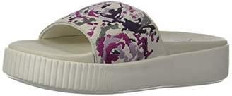 Puma Women's Platform Slide Sandal Black Aged Silver-Winsome Orchid