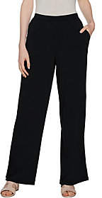 Halston H by Petite Jet Set Jersey Wide LegPull-on Pants