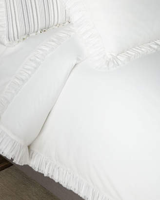 Pine Cone Hill Laundered Ruffle King Duvet Cover, White