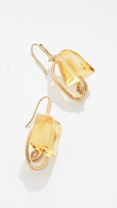 Marni Metal and Amber Earrings