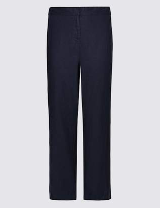 Marks and Spencer CURVE Linen Rich Wide Leg Trousers