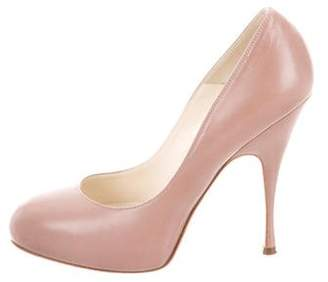 Brian Atwood Leather Round-Toe Pumps