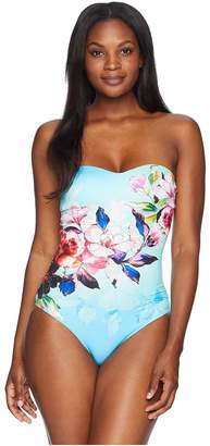 Jets Flora Bandeau One-Piece Women's Swimsuits One Piece