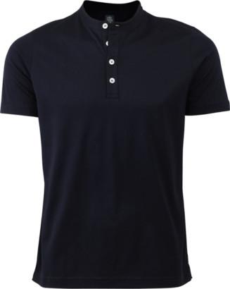 Eleventy Short Sleeve Cotton Henley