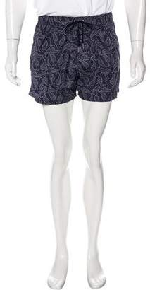 Fendi Logo Paisley Print Swim Trunks