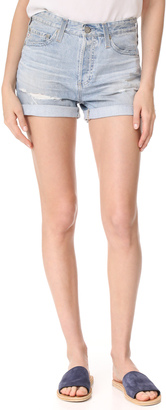 AG The Alex Boyfriend Shorts $168 thestylecure.com