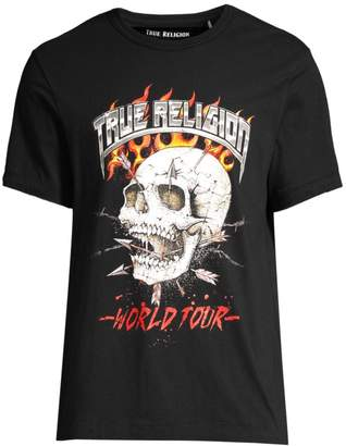 True Religion Logo Skull T-Shirt