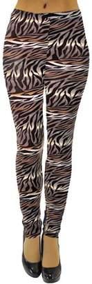 Luxury Divas Multicolor Animal Print Stretch Leggings