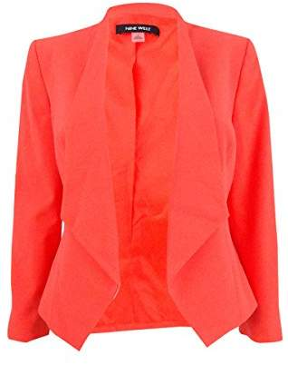 Nine West Women's Solid Kiss Front Jacket
