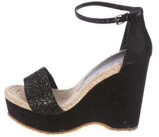 Stella McCartney Glitter Espadrille Wedges
