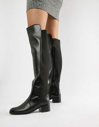 London Rebel Over Knee Riding Boot