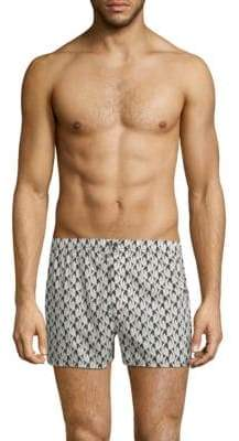 Marc by Marc Jacobs Bellflower-Print Cotton Boxer Shorts