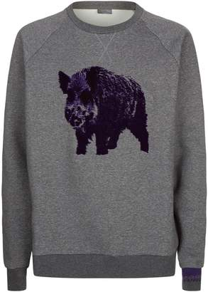 Lanvin Embroidered Boar Sweatshirt