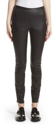 Women's Belstaff Gazelle Leather Leggings $1,195 thestylecure.com