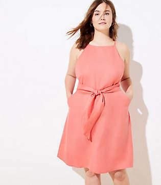 LOFT Plus Linen Blend Halter Dress
