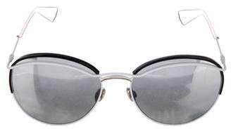 Christian Dior Dioround Mirrored Sunglasses