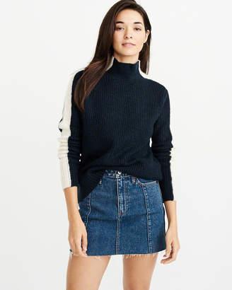 Abercrombie & Fitch Side-Stripe Turtleneck Sweater