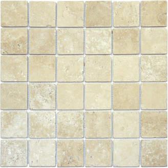 """MSI Tuscany Classic 2"""" x 2"""" Travertine Mosaic Tile in Beige"""