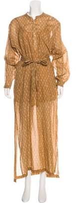 DÔEN Printed Peasant Dress