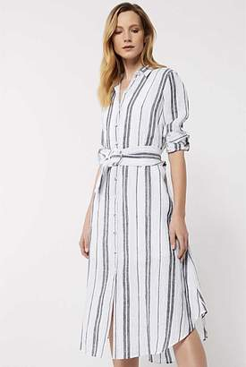 Witchery Linen Stripe Shirt Dress