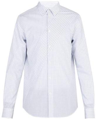 Stella McCartney Check Print Cotton Poplin Shirt - Mens - Blue White