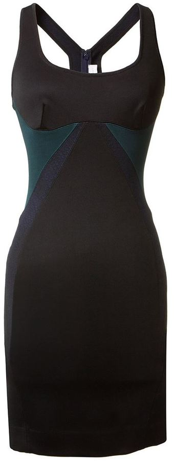 Stella McCartney fitted contrast panel dress