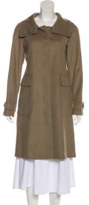 Burberry Virgin Wool Knee-Length Coat w/ Tags