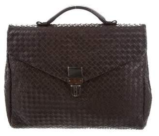 Bottega Veneta Intrecciato Leather Briefcase brown Intrecciato Leather Briefcase