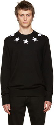 Givenchy Black Wool Stars Sweater $760 thestylecure.com