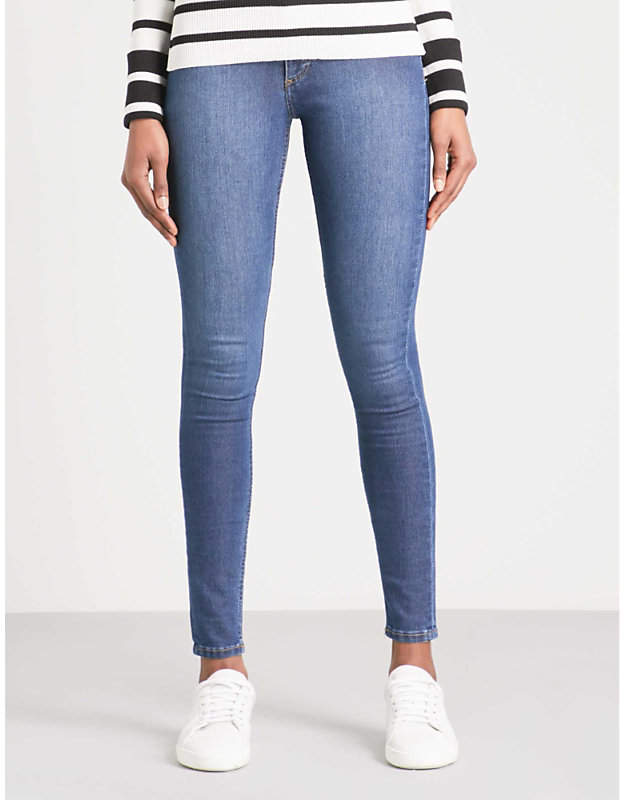 Spray On skinny high-rise jeans